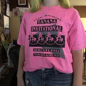 Other - Vintage pink wrestling shirt